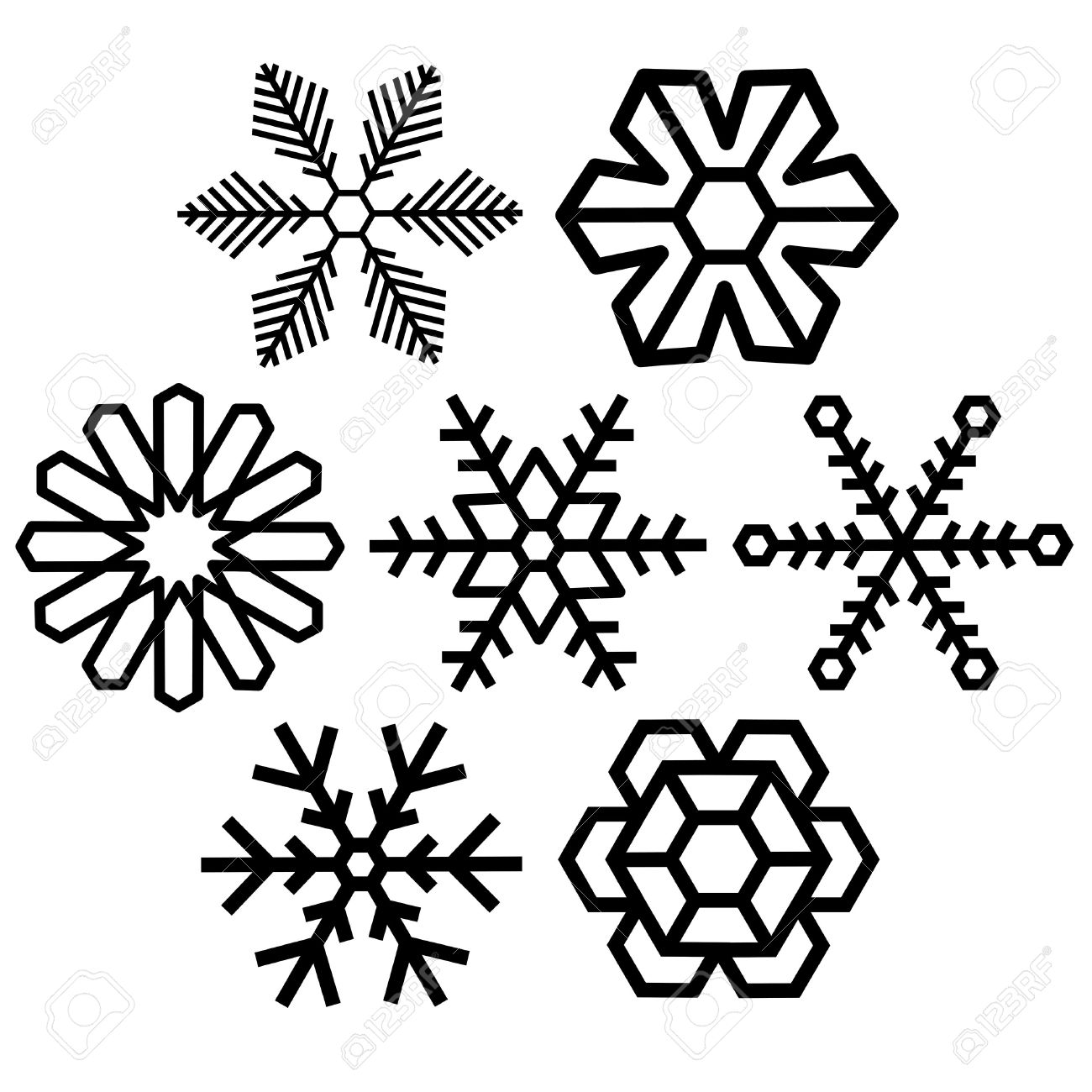 snow crystal icon sets vector background creative series frost rh 123rf com snow victorville snow victoria radar
