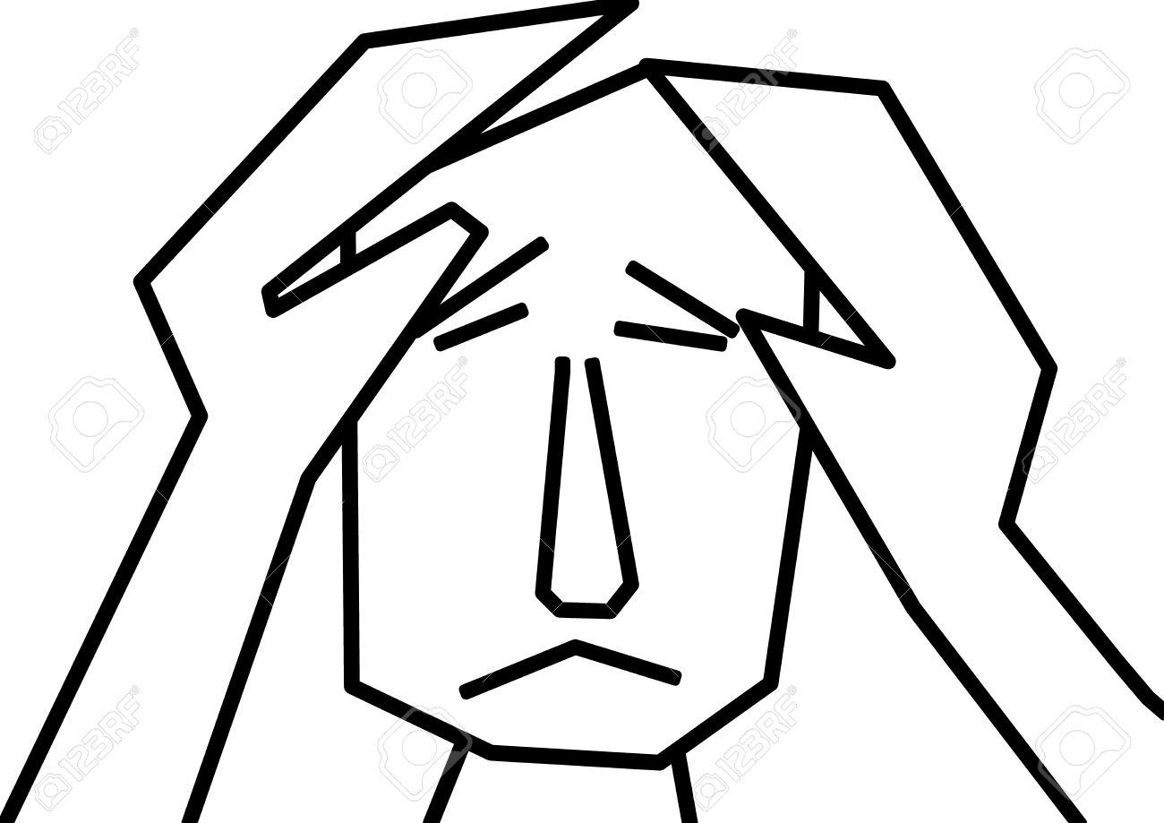 Depression Clipart and depression in black