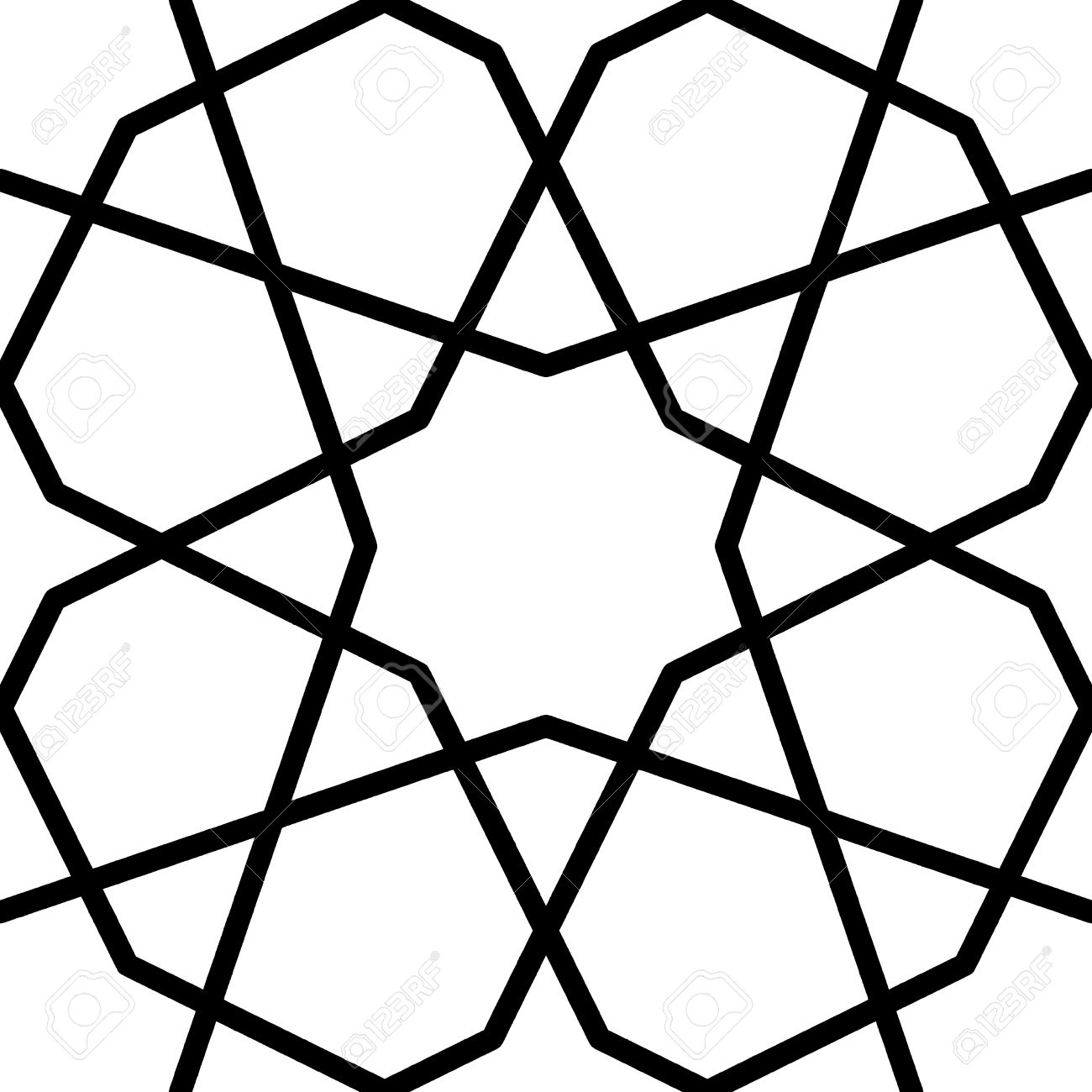 Geometric Islamic Pattern By Sun And Flower Royalty Free Cliparts ... for Simple Islamic Designs  110ylc