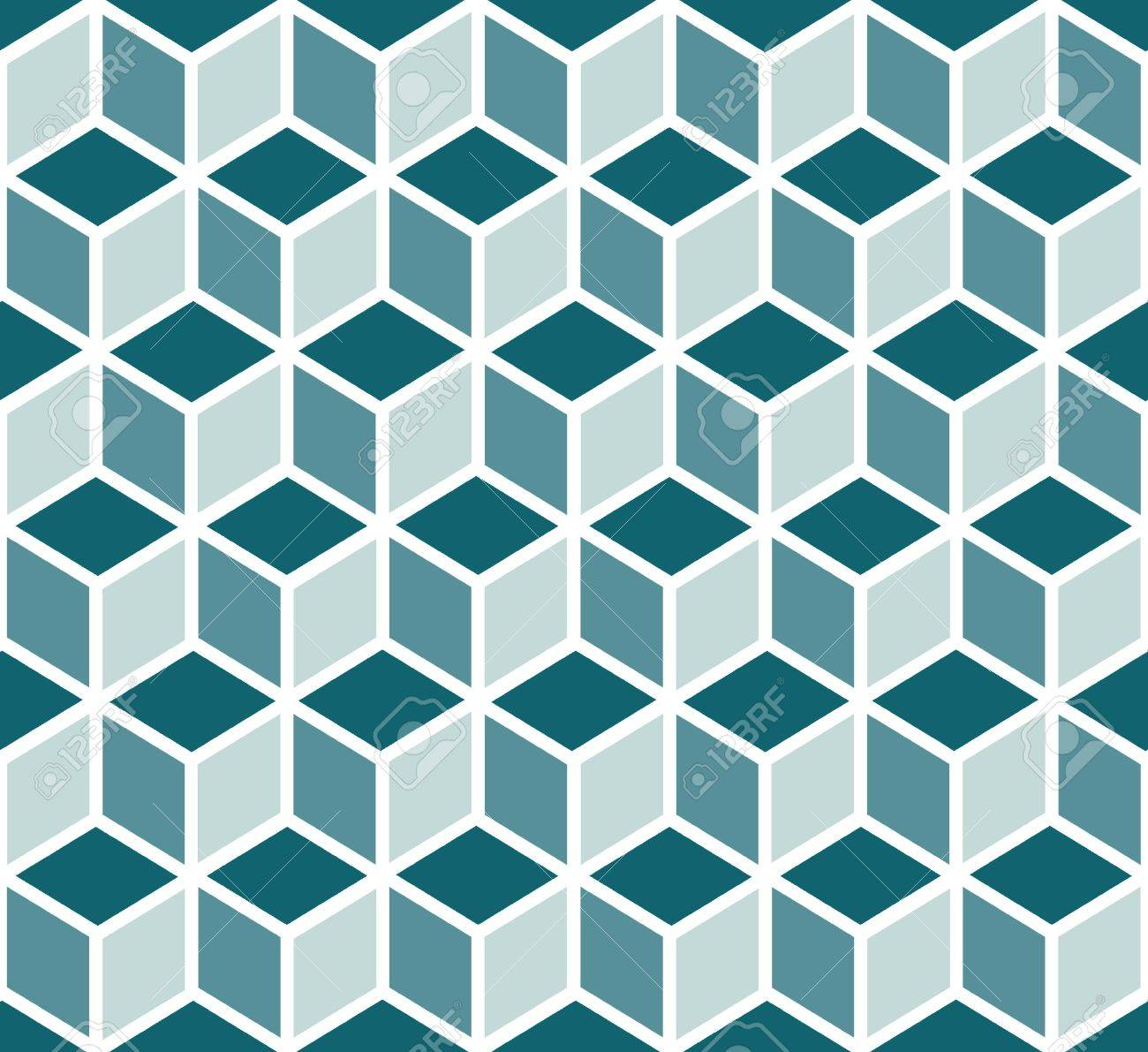 seamless 3d geometric patterns by cubes royalty free cliparts