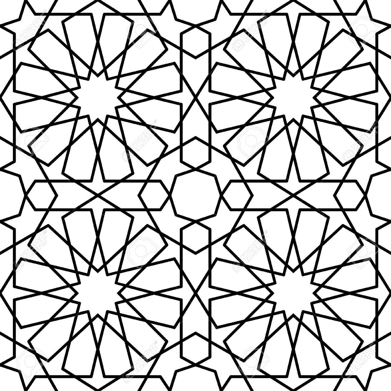 Attractive Seamless Geometric Arabic Islamic Pattern Stock Vector   43462415