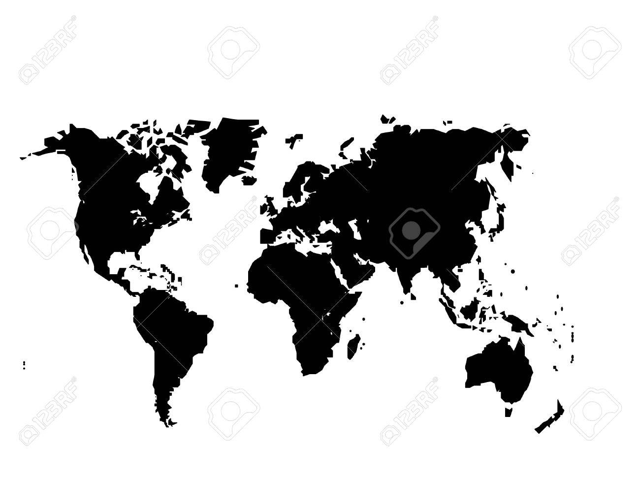 World map with country borders isolated on white background royalty world map with country borders isolated on white background stock vector 82283763 gumiabroncs Image collections