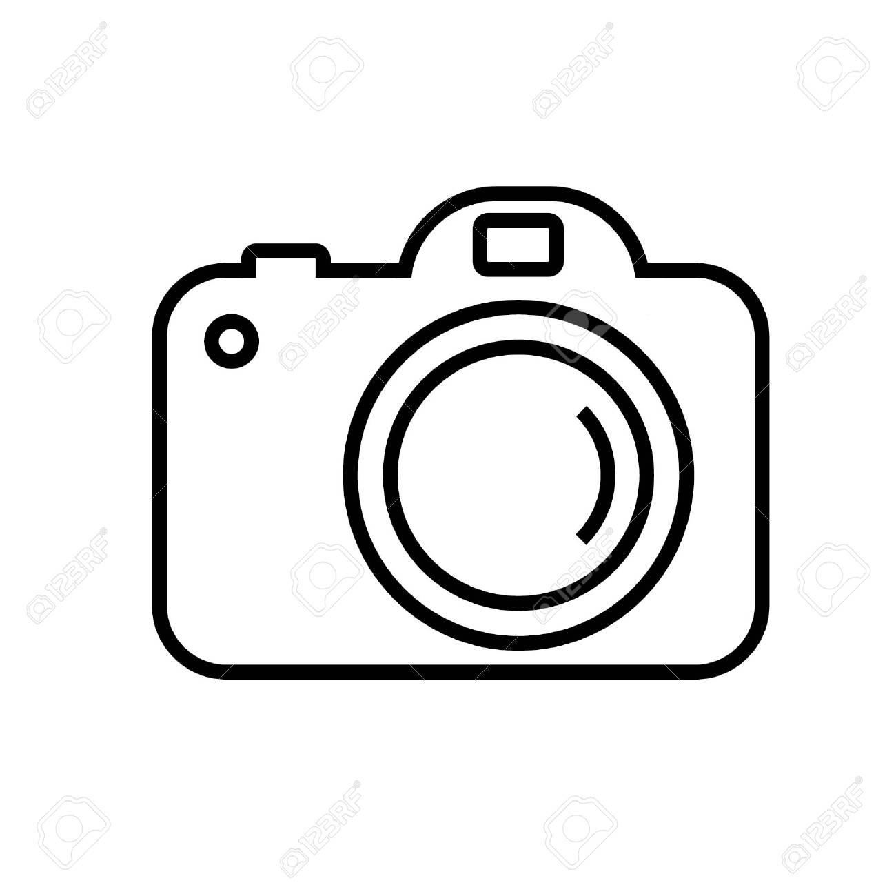 Digital Camera In Simple Line Vector Image Royalty Free Cliparts Vectors And Stock Illustration Image 87006611