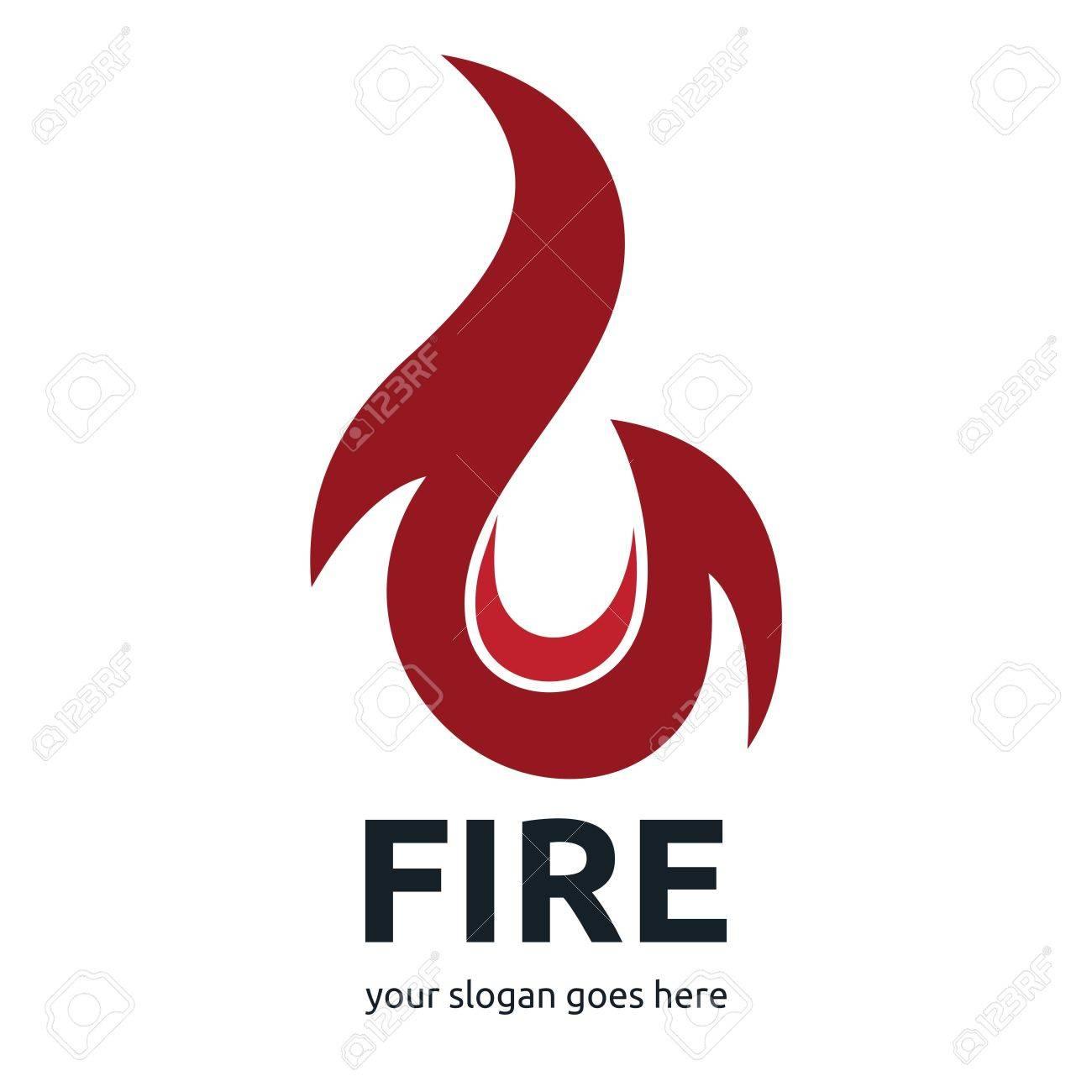 Fire logo template set