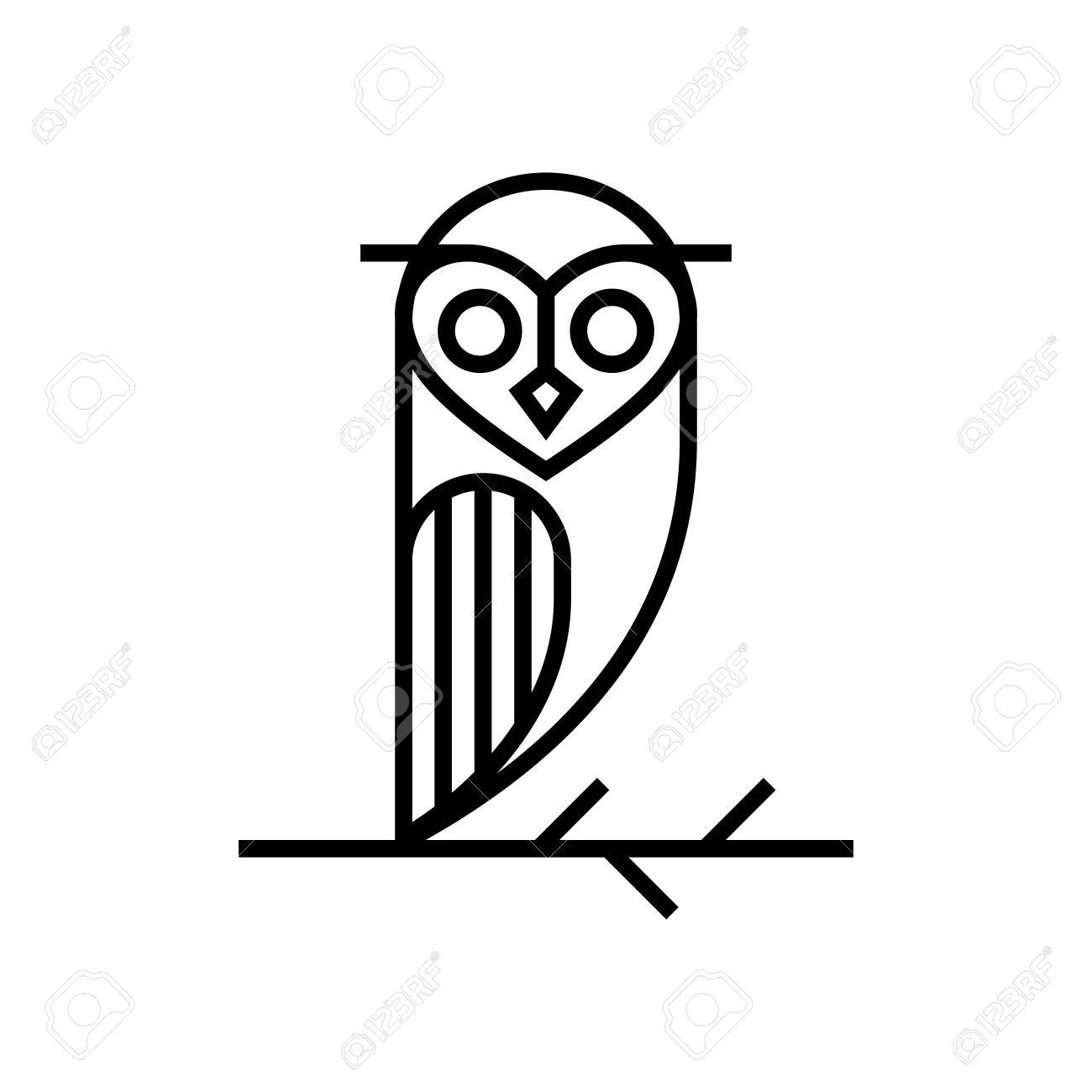 Owl Template Stock Photo