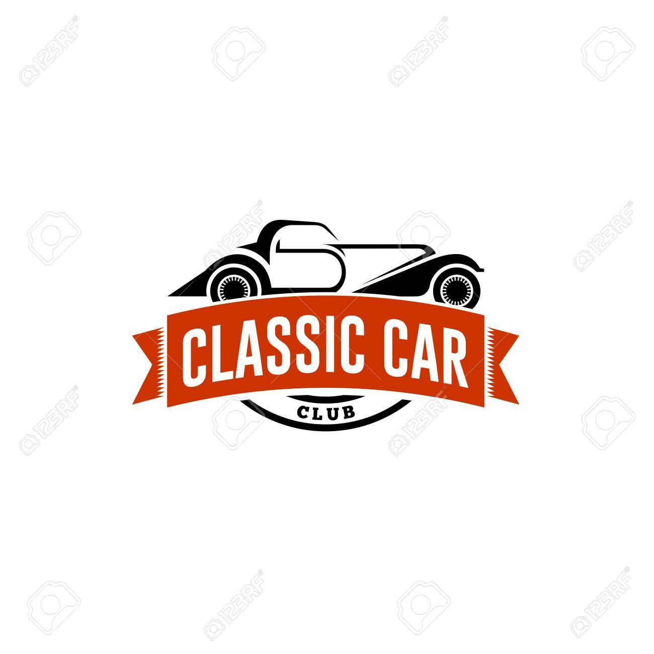 Classic Car Logo Template Stock Photo, Picture And Royalty Free ...