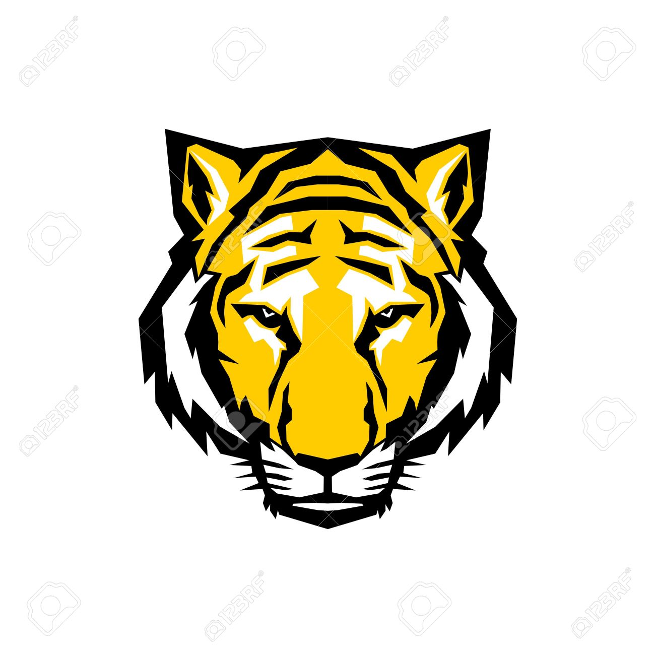 60 Tiger Shape Templates Crafts Colouring 3