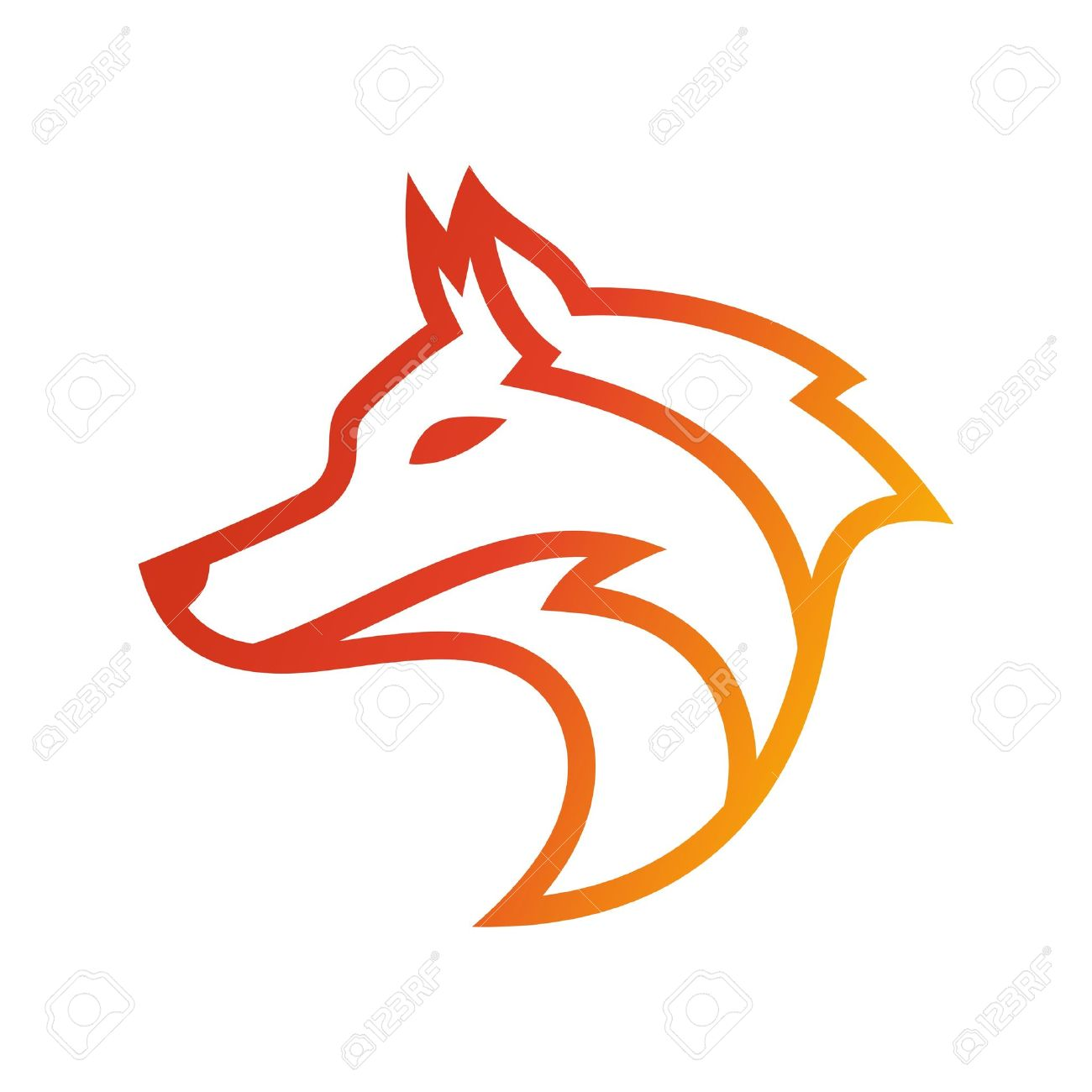 wolf logo template stock photo picture and royalty free image