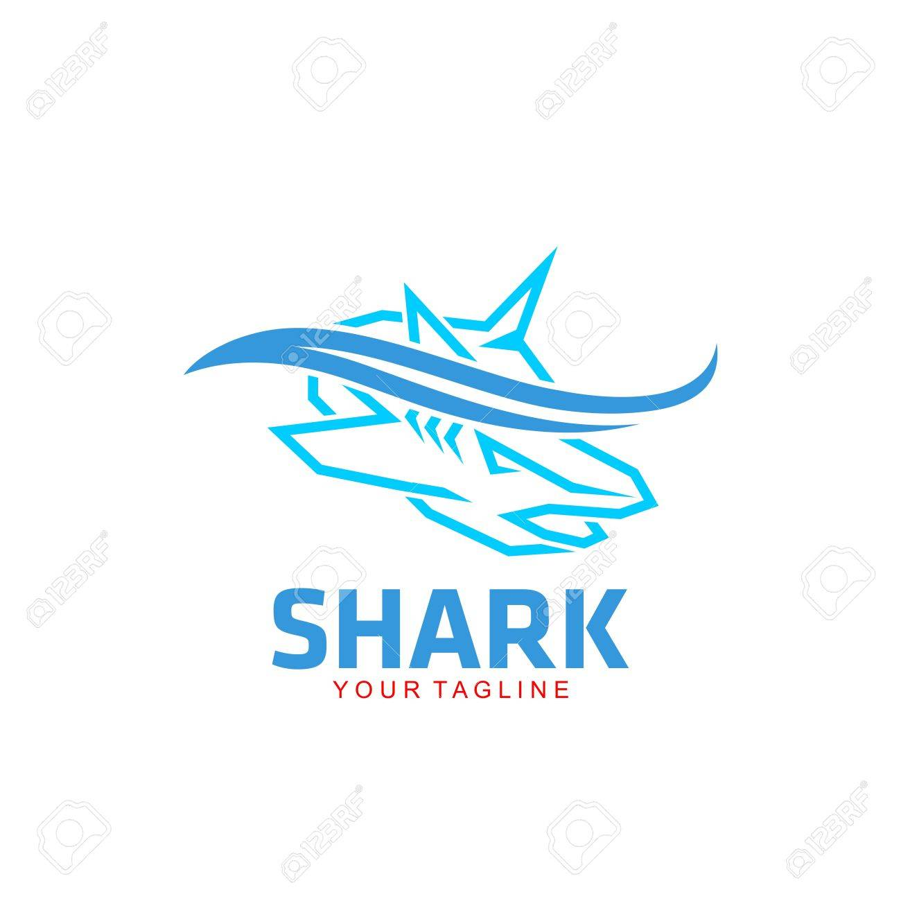 shark logo template stock photo picture and royalty free image