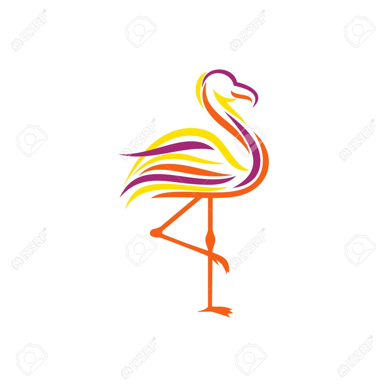 flamingo template stock photo picture and royalty free image image