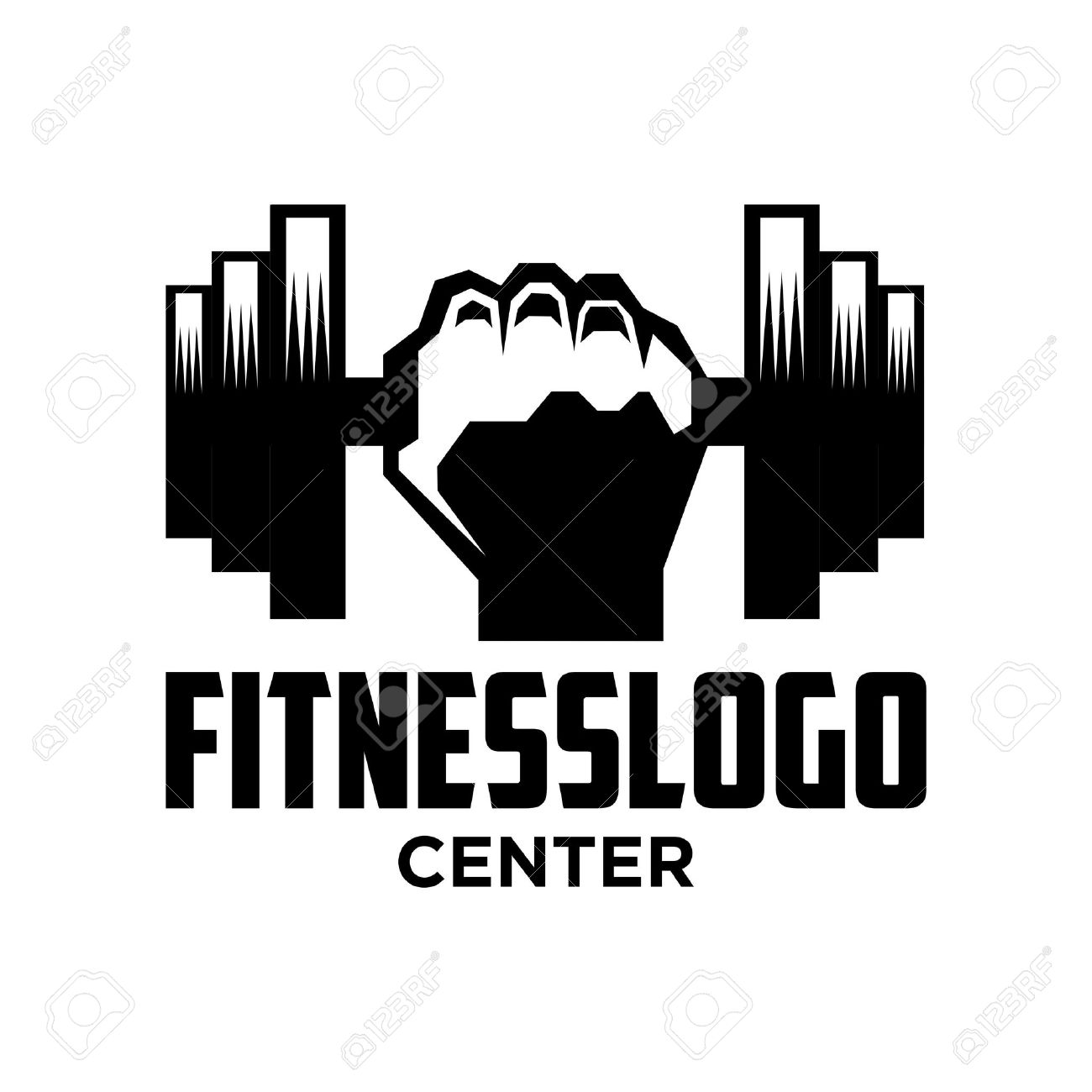 Gym Logo Stock Photos. Royalty Free Business Images for Gym Logo Pictures  110zmd