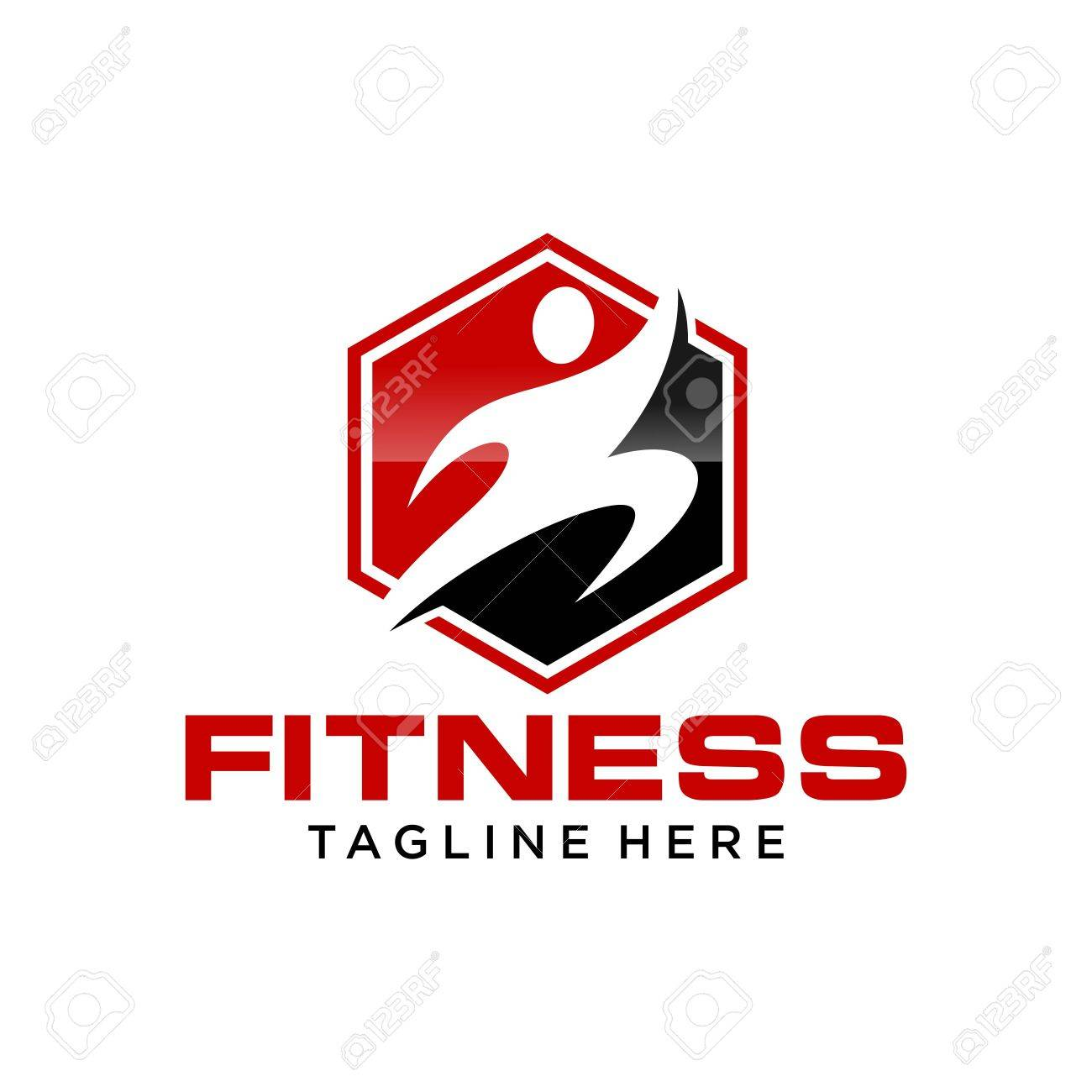 Fitness Logo Template Stock Photo, Picture And Royalty Free Image ...