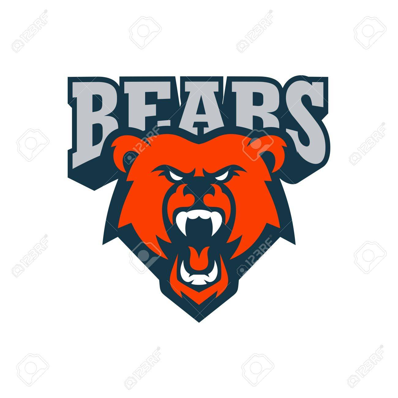 bear sport logo vector template stock photo picture and royalty