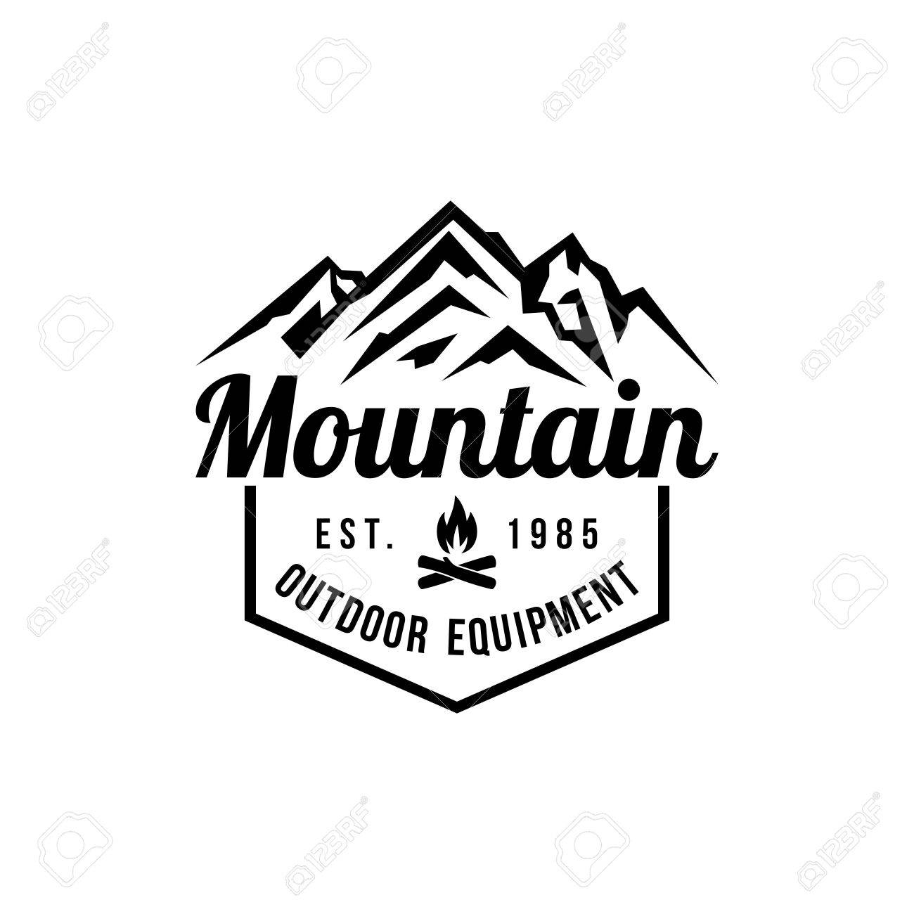 Mountain Hipster Logo Template Stock Photo Picture And Royalty Free
