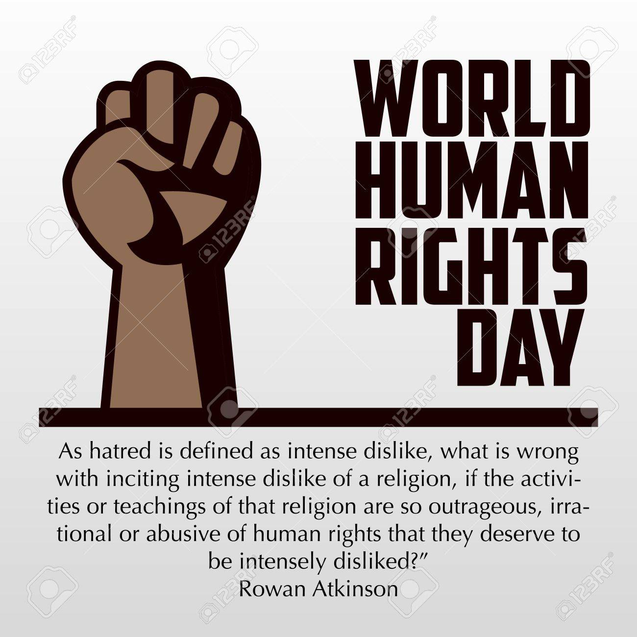 Human Rights Day, Poster, Quotes, Vector Template Stock Photo