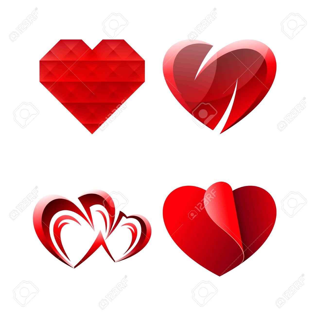 Vector Icon Design Miscellaneous Sweet Romantic Heart Symbols