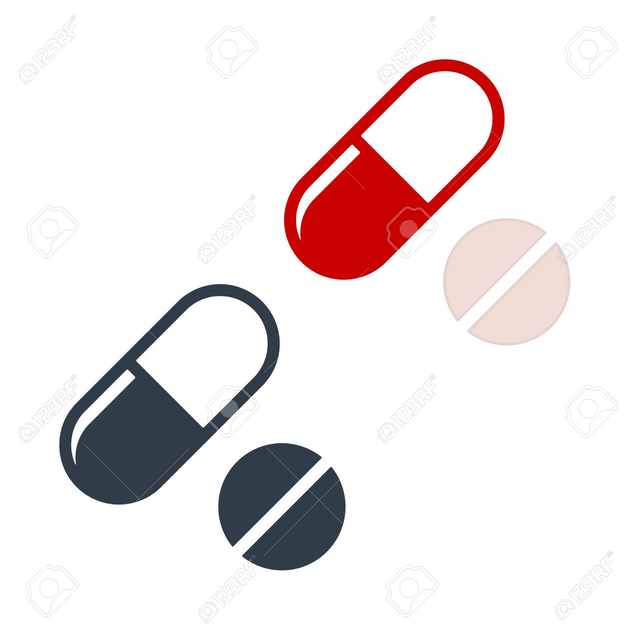 pills flat icon on white background drug vector icon royalty free cliparts vectors and stock illustration image 126084050 123rf com