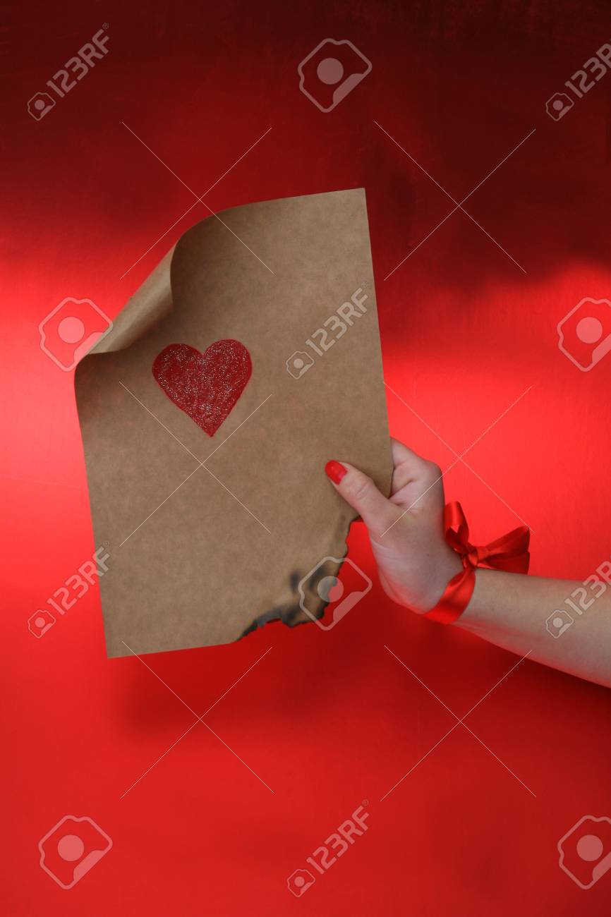 emotional heart design crafted Valentine's Day Stock Photo - 8742844