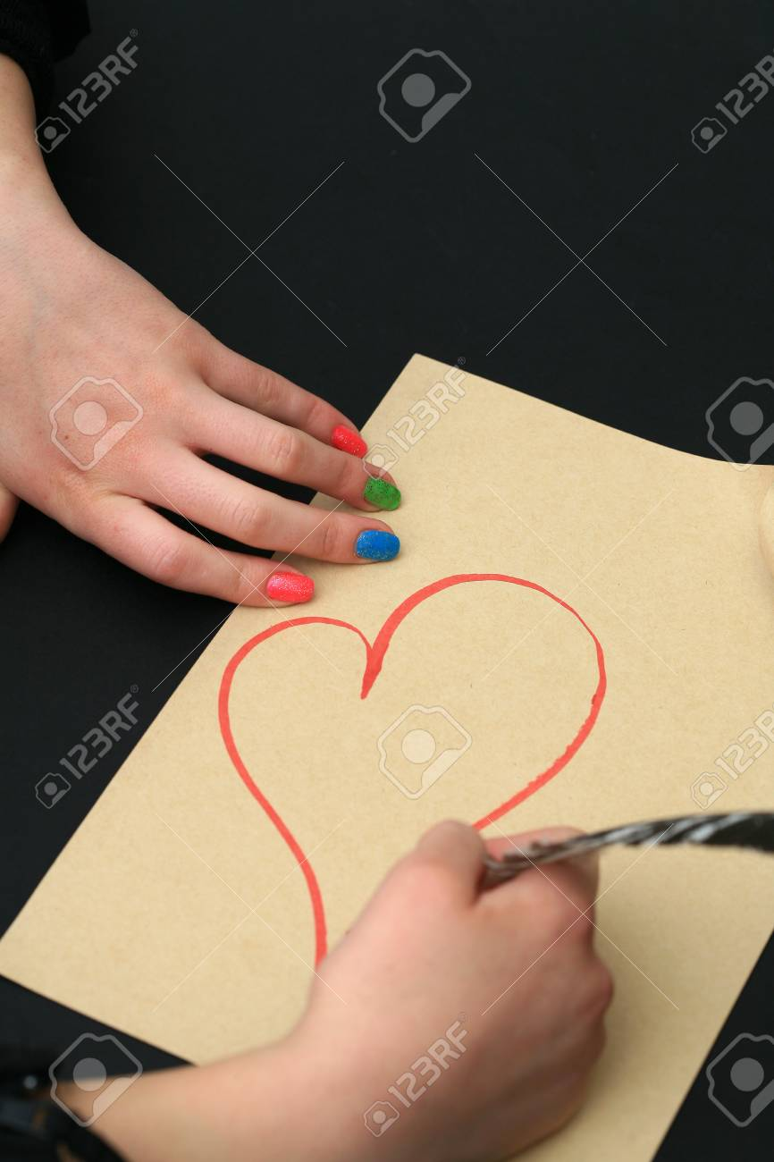 emotional heart design crafted Valentine's Day Stock Photo - 8853091