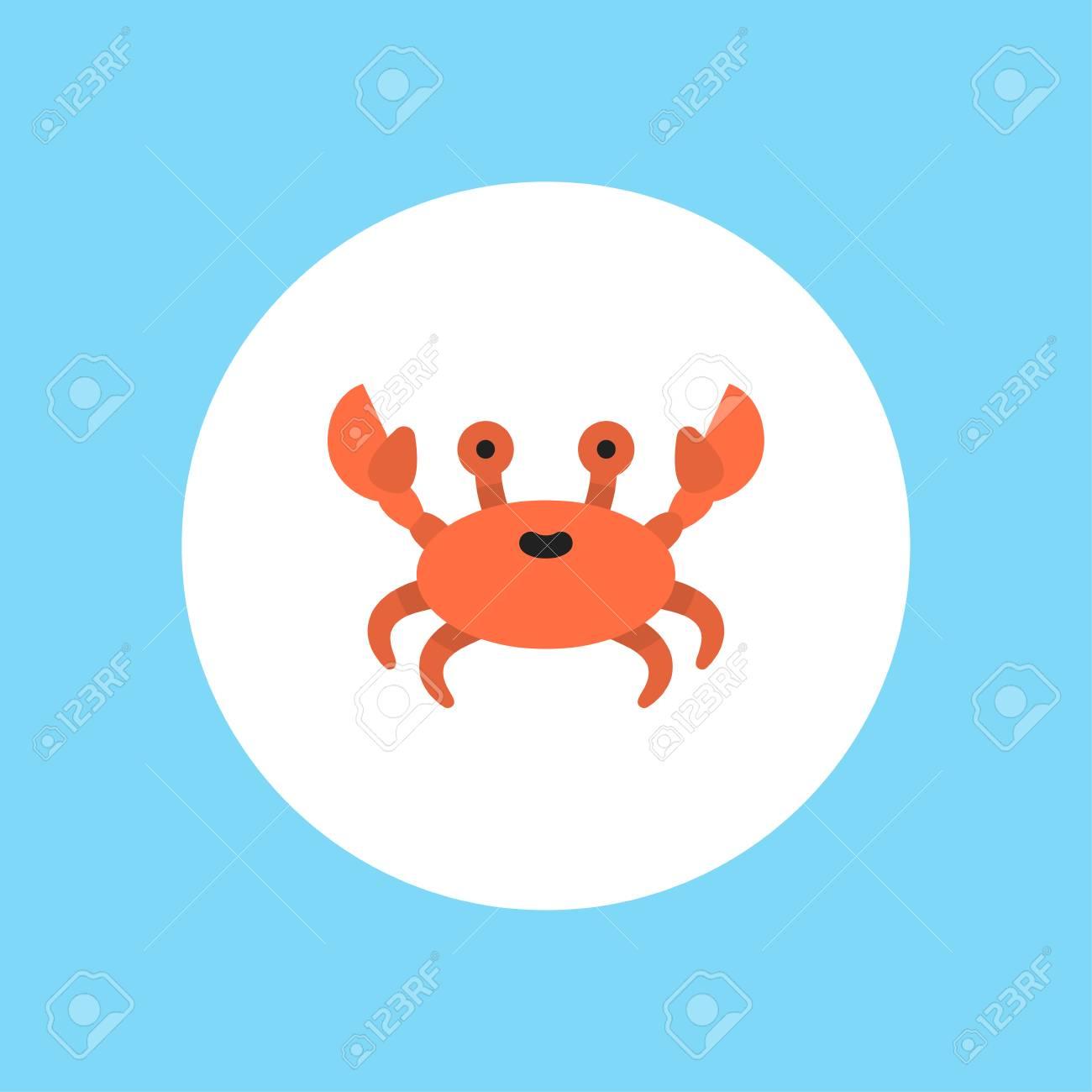 Crab Vector Thin Line Icon Black On White Isolated Symbol Logo