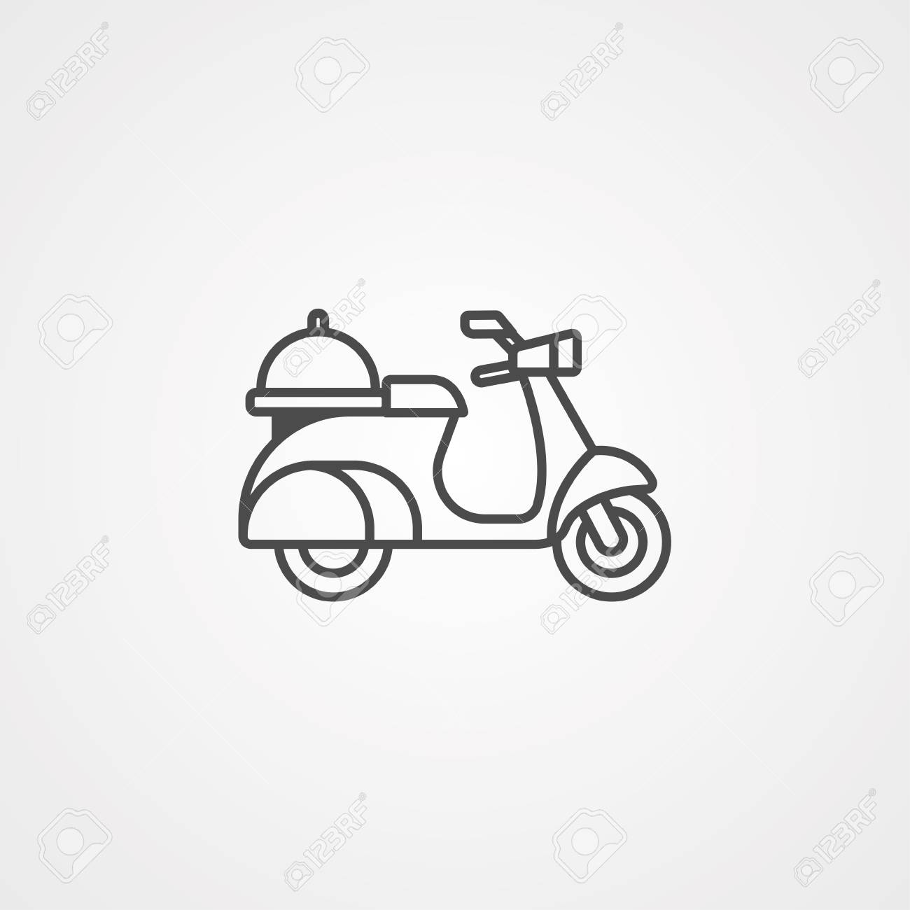 express delivery service icon courier boy riding motor bike template