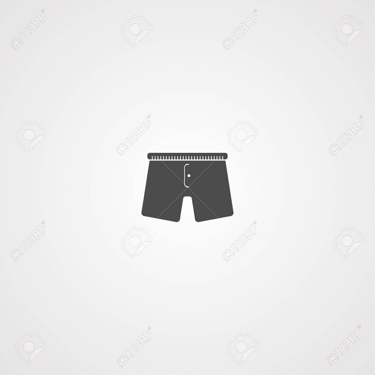 4033d145683d Boxer underpants vector line icon isolated on white background. Male  underwear - underpants line icon