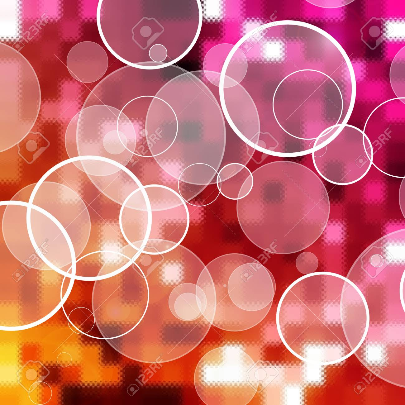 abstract circles background Stock Photo - 6182976