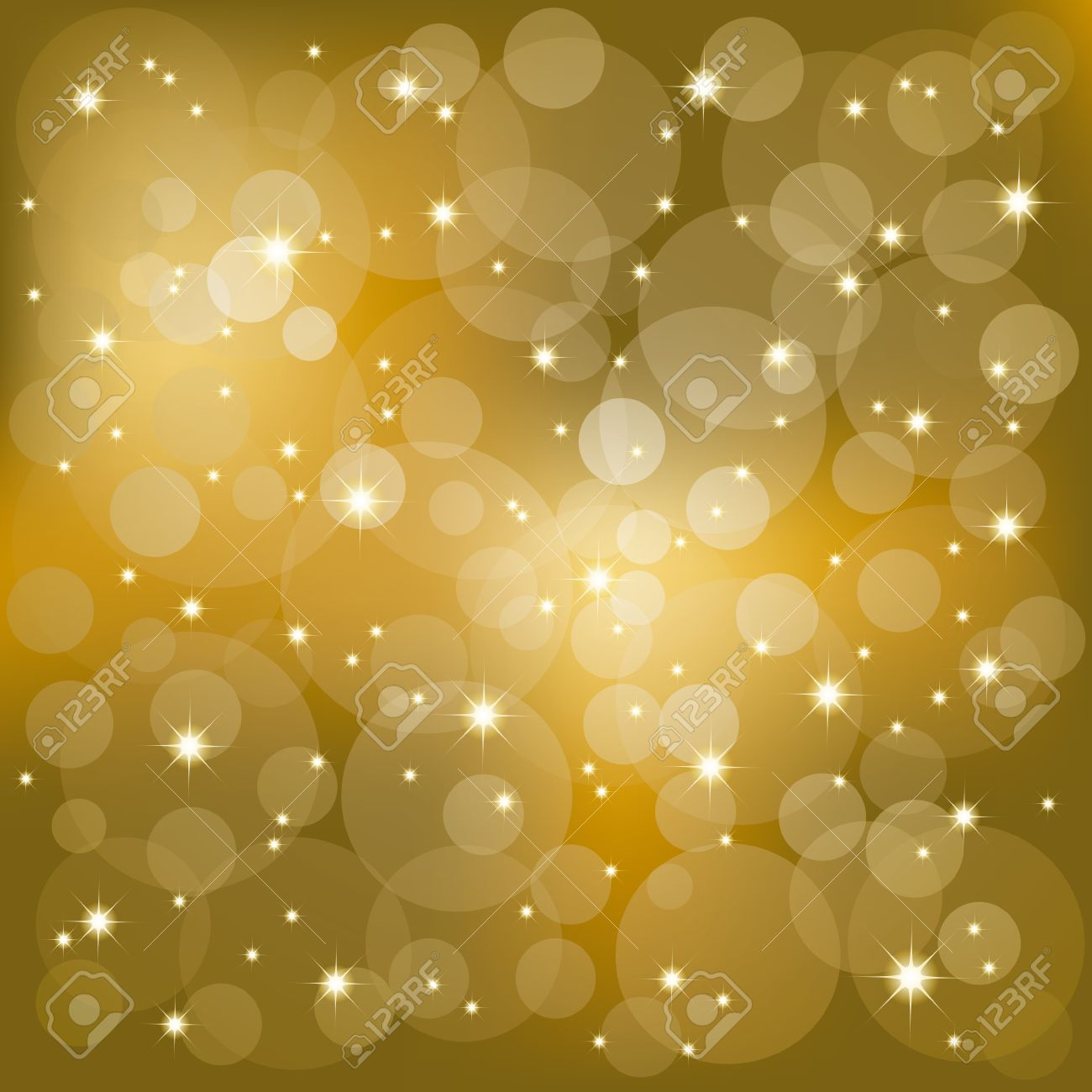 Gold glitter bright vector transparent background golden sparkles - Abstract Golden Sparkling Stars Light Background Stock Vector 6446814