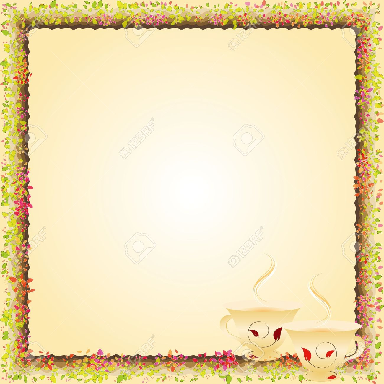 Summer afternoon tea time party invitation Stock Photo - 6895263