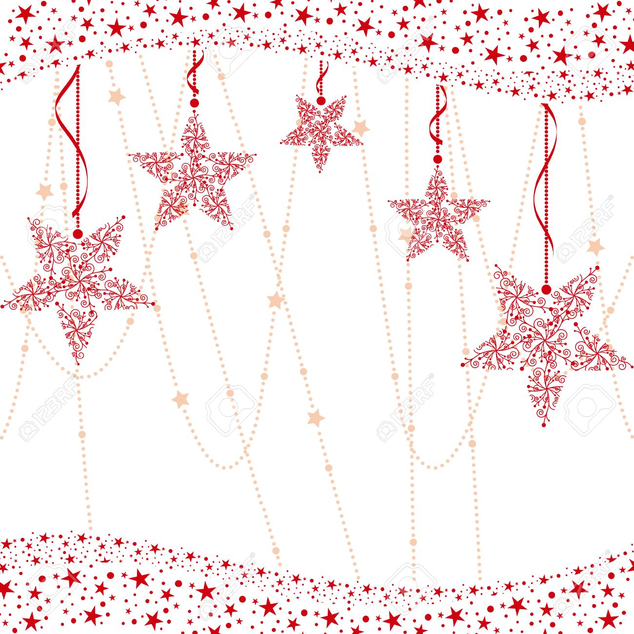 Abstract red christmas star background Stock Vector - 8153132
