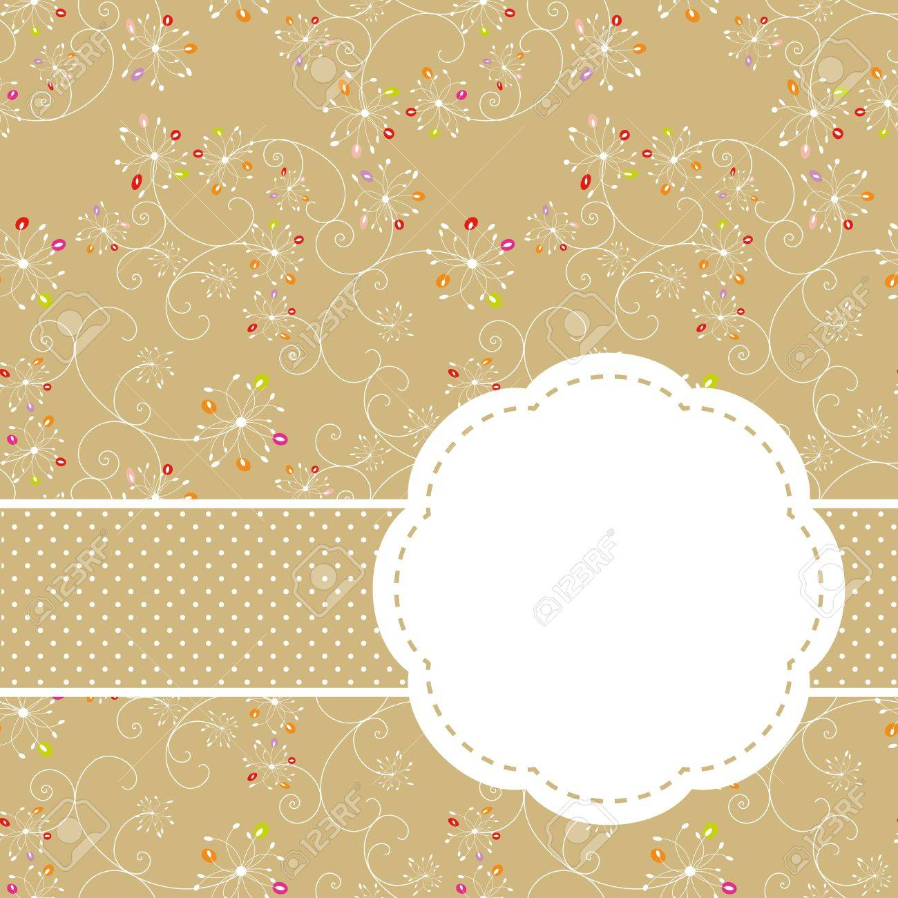 Springtime colorful floral seamless pattern greeting card Stock Vector - 9233915