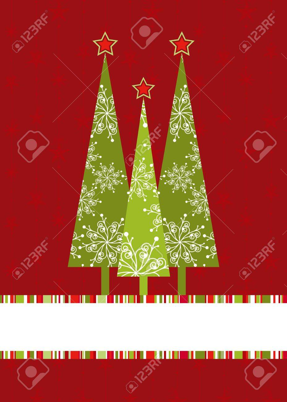 Christmas tree with starry seamless pattern background Stock Vector - 10931869
