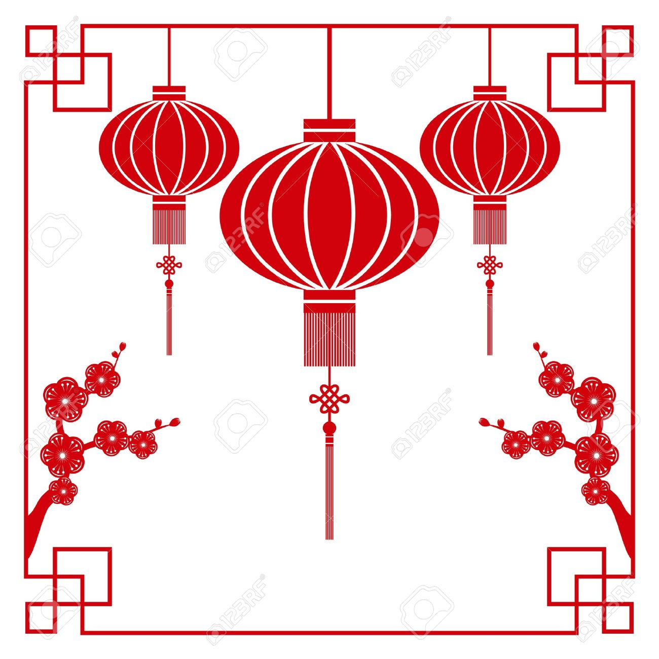 Image result for image chinese lantern festival drawing