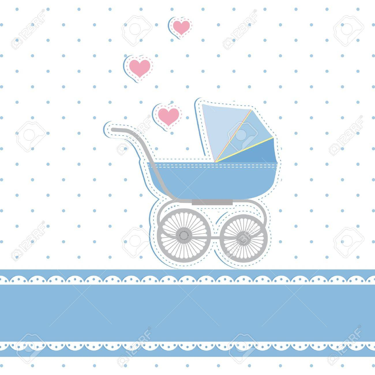 New Baby Boy Shower Invitation Card Royalty Free Cliparts Vectors – Baby Shower Invitation Cards for Boys