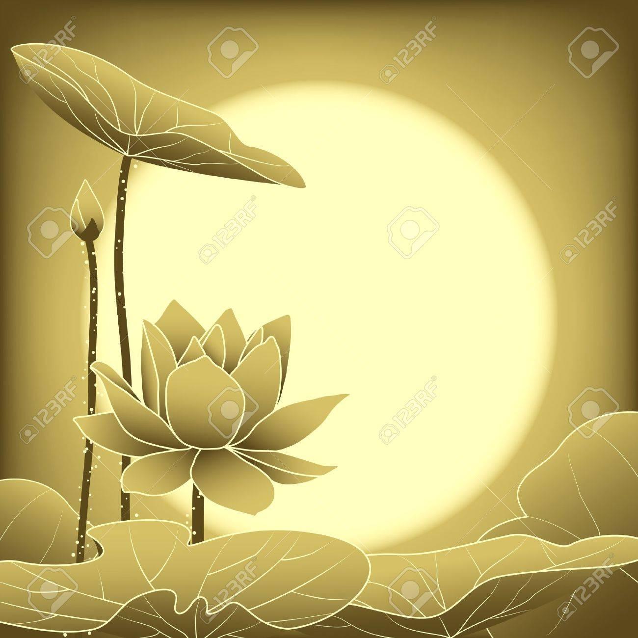 oriental mid autumn festival lotus flower wallpaper royalty free