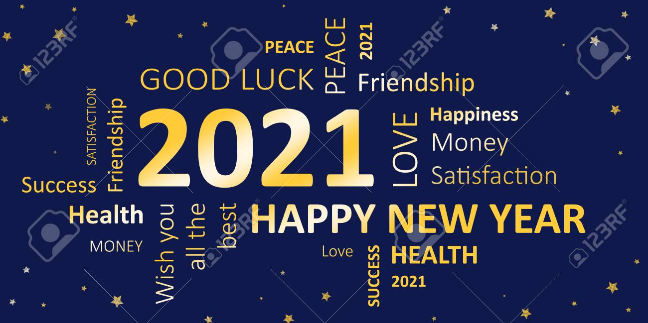 New Year Card With Good Wishes 2021 Stock Photo Picture And Royalty Free Image Image 90911341