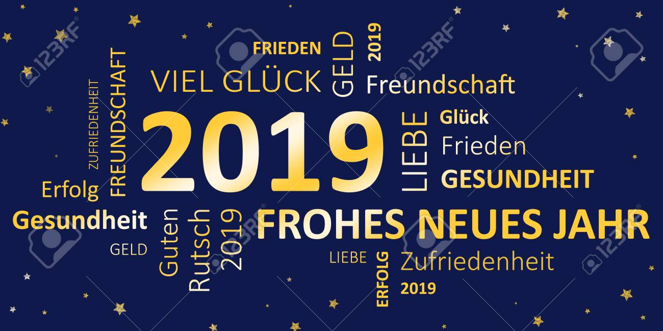 Frohes Neues Jahr 2019 Und Wünsche Lizenzfreie Fotos, Bilder Und ...