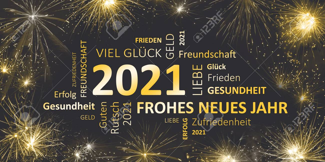 german black golden new year card with happy new year 2021 stock photo 90911596