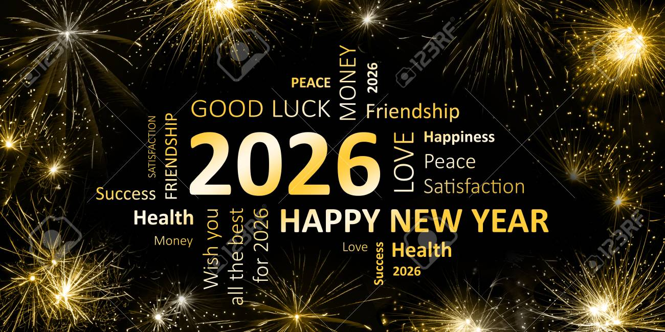 New Year Greeting Card 2026 Stock Photo Picture And Royalty Free