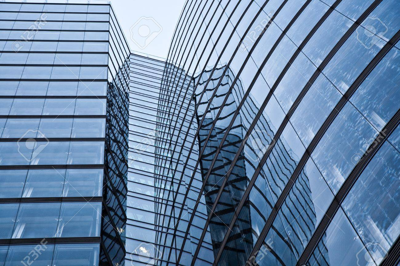 glas front of the Uniqa tower in vienna with sky Stock Photo - 9173463