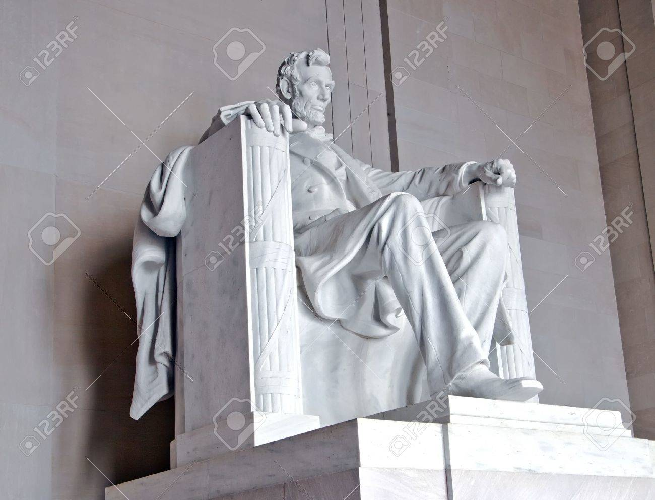 Statue of Abraham Lincoln at the Lincoln Memorial, Washington DC Stock Photo - 9199265