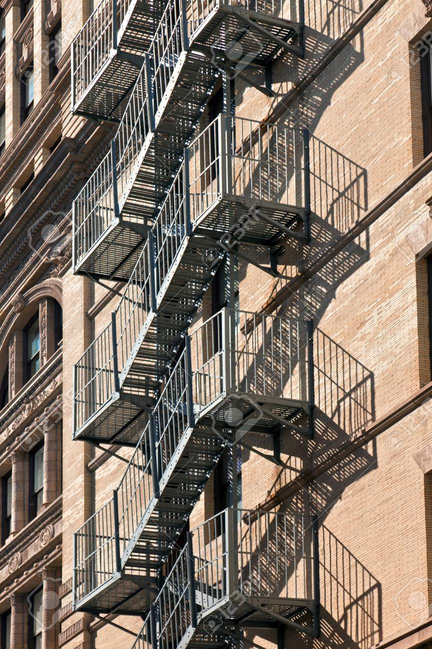 fire escape at an old downtow house Stock Photo - 9299058