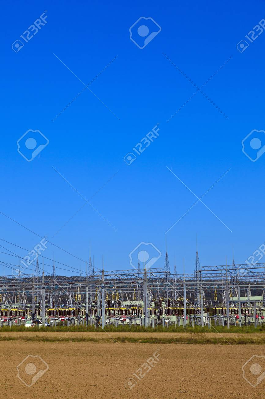 electrical power plant in beautiful colorful meadow Stock Photo - 9356241