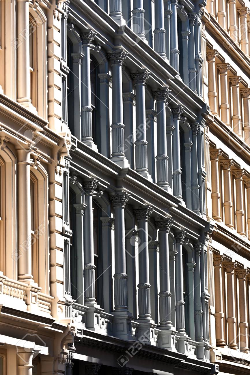 facade at old houses downtown in New York Stock Photo - 9400215