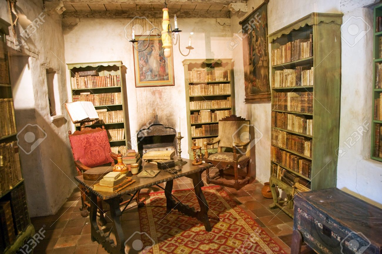 Carmel Mission, Carmel, California, Interior, Library Stock Photo, Picture  And Royalty Free Image. Image 9744914.