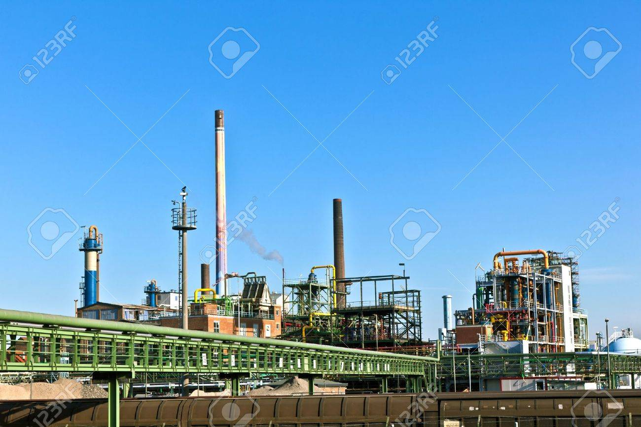 Industry park with silo and chimney Stock Photo - 9730200