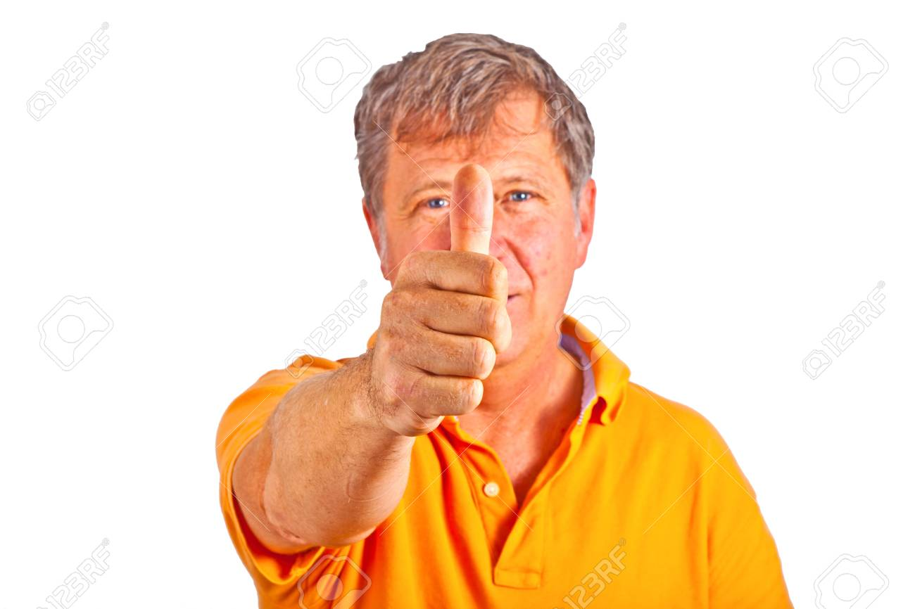 attractive man giving finger sign in the studio Stock Photo - 10283721