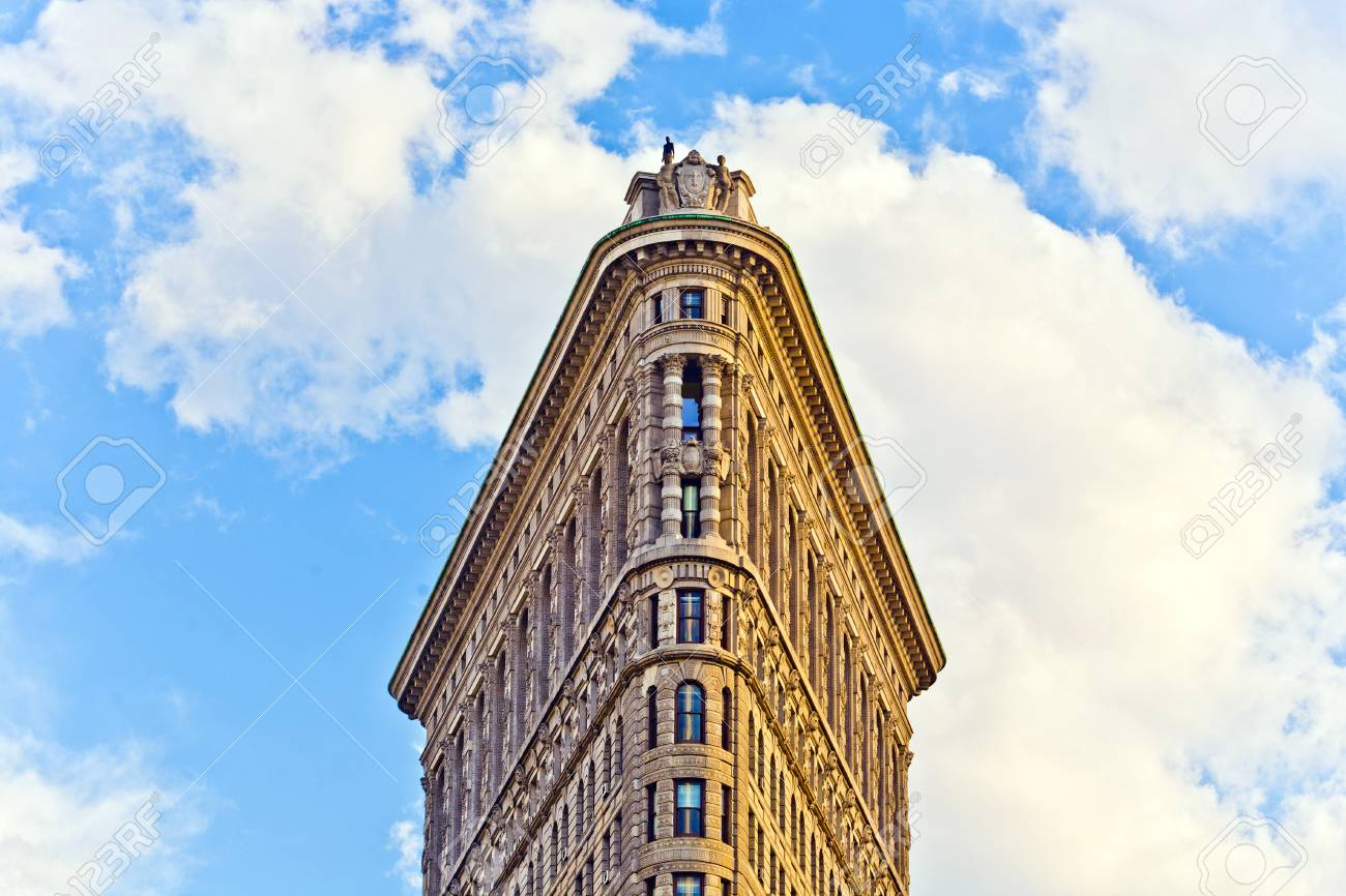 NEW YORK CITY – JULY 12: Facade of the Flatiron building  with iron statue of Man on the roof on July 12,2010 in New York City. Stock Photo - 10938381