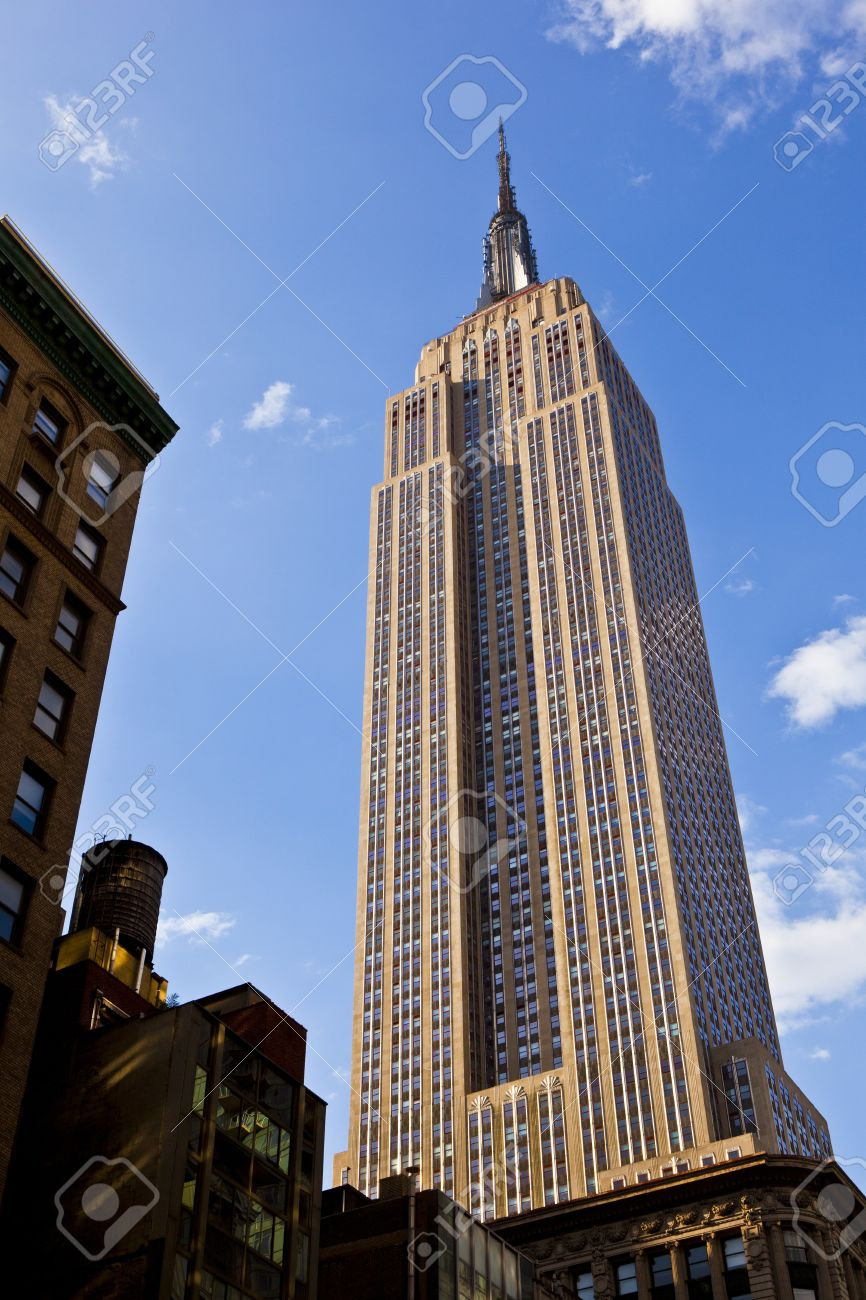 facade of empire state building in new york stock photo picture and