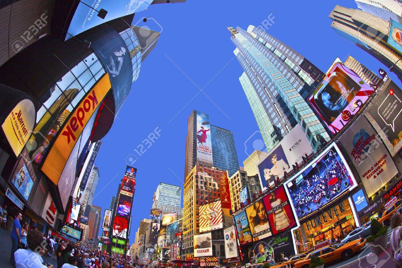 NEW YORK CITY - JUL 8: Times Square, featured with Broadway Theaters and huge number of LED signs, is a symbol of New York City and the United States, July 8, 2010 in Manhattan, New York City. Stock Photo - 13761459